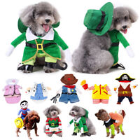 Pet Puppy Cat Dog Dress up Christmas Gift Fancy Costumes Coat Outfit Clothes New
