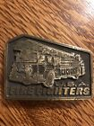 Vintage Brass USA Firefighter Belt Buckle