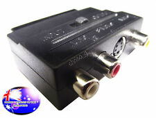 From OZ Quality 1PC SCART Male To 3 RCA S-Video Female AV TV & Audio Adaptor +FP