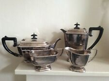 More details for antique purcell bros art deco silver plated tea and coffee set