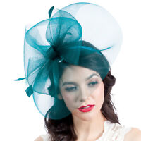 Graceful Side Mesh Veil Fascinators Headband Millinery Cocktail Derby Hat