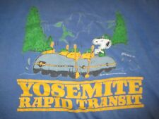 Vintage 70s Peanuts SNOOPY & WOODSTOCK on RAFT (LG) Shirt YOSEMITE RAPID TRANSIT