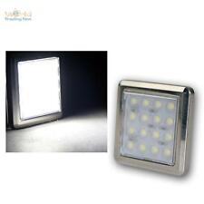 LED Lámpara de pedestal de cromo Quattro 16 LEDs blanco frío 12V ca1,6W,