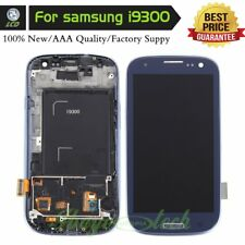 For Samsung Galaxy S3 i9300 i9305 Screen Touch Digitizer LCD Display+Frame Blue