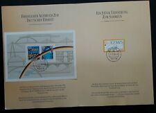 1992-3 Germany Reunification & Opening of Berlin Wall stamps in booklet