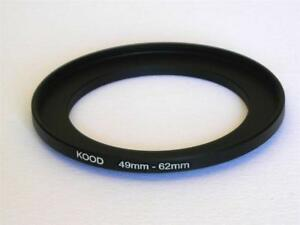 STEP UP ADAPTER 49MM-62MM STEPPING RING 49MM TO 62MM 49-62FILTER ADAPTER
