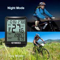 Mountain Bike Speedometer Wireless Waterproof LCD Cycling Computer Speed Tracker