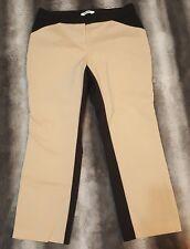 DKNYC capri pants beige and black gorgeous pre owned