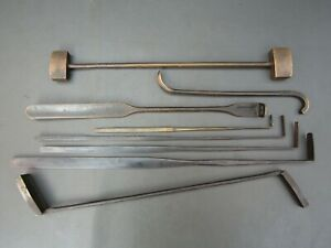 8 vintage unusual sand moulding foundry iron & brass old tool by T Monk Etc