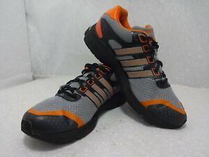 Adidas Supernova Glide 2 Mens Size 9.5 Gray Orange Black Running Training Shoes