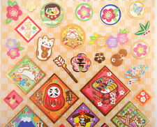 Japanese stickers! Daruma dolls, Mt. Fuji, maneki neko lucky cats, plum blossoms