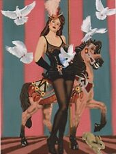 "*Postcard-""Magician Girl"" -Next.Doves , Rabbit, & The Carousel Horse- (C4)"