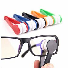 5 Mini Sun Glasses Eyeglass Microfiber Spectacles Cleaner Brush Cleaning Tool LW