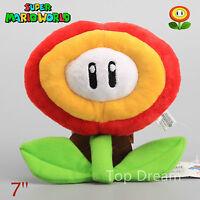 "2X New Super Mario Bros. 2 Plush Fire Flower Ice Flower Soft Toy Doll Teddy 7"""