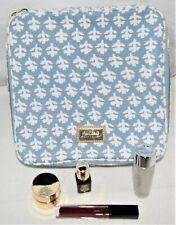 Estee Lauder Mediterranean Blue Train Case Bag Cosmetic Pouch + Re-Nutrev Lotion