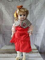 Vintage Christmas doll porcelain unknown maker