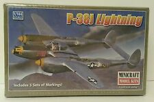 Minicraft 1:144 P-38J Lightning Famous Aircraft of WWII Sealed! 3 sets markings