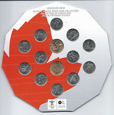 COINS CANADA VANCOUVER 2010 OLYMPIC WINTER GAMES COLLECTION UNC * MINT