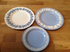 Wedgwood Embossed Queens Ware 1 Salad 21cm & 2 Large Dinner Plates 27cm.