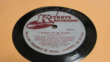 LITTLE JAZZ KEYTONE 78 RPM RECORD 608 I WANT TO BE HAPPY