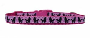 """Pink & white polka dot & black  """"POODLE """" small dog puppy collar & or lead set"""