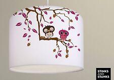 Deckenlampe, Hängelampe, Lampenschirm, Eule, Blätter