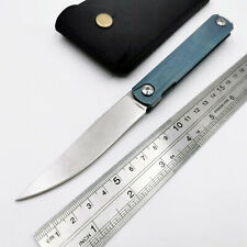 High Quality S35VN Blade Folding Knife Titanium Handle Camping Hunting Knives