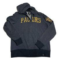 '47 Brand Indiana Pacers NBA Navy Full-Zip Hoodie Sweatshirt Men's Size Medium