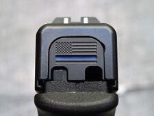 MILSPIN Thin Blue Line Glock Slide Back Plate Black Stainless Steel