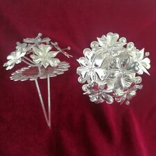 Retro classic tribal hair accessories handmade Miao silver flower hairpin 1piece