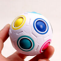 Magic Cube Fidget Rainbow Football Puzzle Educational Toy Stress Reliever Ball