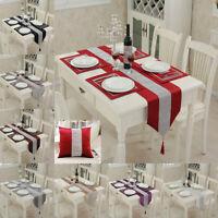 Diamante Table Runner Napkin Mat Cover Velvet Satin Tassel Edge Party Home decor