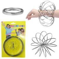 Kids /Adults Interactive Magic Flow Ring Arm Toy Silver Spring Spinner Dynamic