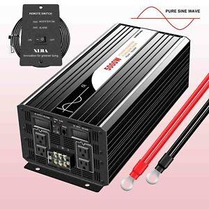 pure sine wave power inverter 5kW 12V/24V/48V dc to ac 120V/230V