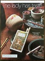 1973 Eve Cigarettes PRINT AD The Lady Has Taste