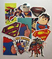 Superman Stickers Cartoon Superhero S Logo Stickers Pink Blue Yellow Stickers