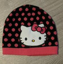 Girls Hello Kitty knit winter beanie hat cap