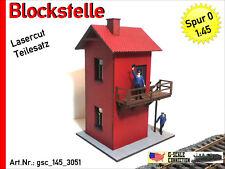 Spur 0 - Blockstelle Backstein Modell 2018 - Lasercut - 1:45 - gsc_145_3051