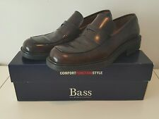 Men Bass Leather Dress Shoes Penny Loafer - Brown Size 8/8.5 (Made in Italy)