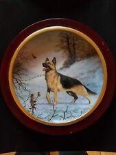 "Danbury Mint - ""Good Morning"" German Shepherd plate by J.L. Fitzgerald."