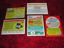 Lot of 14 ( No Dups) Topps Game & Membership Cards from various years