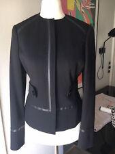 Gianni Versace Jacke schwarz DE 34 F36 IT 38 S TOP Jacket black wool Wolle Lana