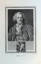CARLO VANLOO, CHARLES ANDRE VAN LOO, painter orig. antique portrait print 1825