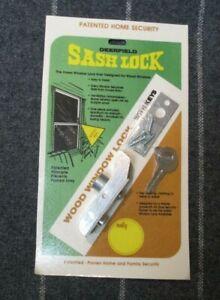 Vintage Deerfield Sash Lock - Wood Window Lock with Keys - Set of 4 - NEW in Pkg