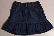 Janie and Jack Girl Blue Denim Skirt Adjustable Waist Great Condition