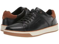 Men's Shoes Cole Haan GRAND CROSSCOURT CRAFTED Leather Sneakers C31048 BLACK