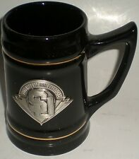 BEER DRINKING CERAMIC MUG STINE PEWTER LOGO 2003 NCAA SU NATIONAL CHAMPIONS NEW