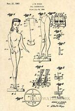 Official Barbie Doll US Patent Art Print - Circa 1959 - Vintage Antique Art  -24