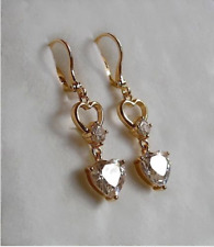 09 9ct Gold gf Amethyst Hoop Earrings STUNNING ALMOST SOLD OUT