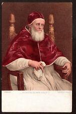 c1906 Stengel art by Sanzio Pope Ritratto di Papa Giulio II Religions postcard